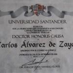 Doctor Honoris Causa de la Universidad de Santander