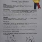 Plaqueta de Distinción de la Universidad Autónoma del Beni