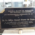 Reconocimiento otorgado por la Escuela Militar de Ingeniería II