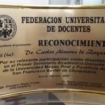 Reconocimiento otorgado por la Federación Universitaria