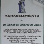 Reconocimiento por su participación activa en el Diplomado en Política y Gestión Pública